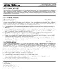 Sample Resume For Procurement Officer Cover Letter Best Samples