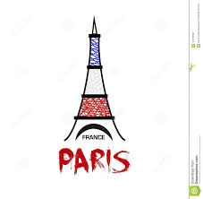 Paris Graphic Designer Paris France Eiffel Tower Vector Icon Stock Vector