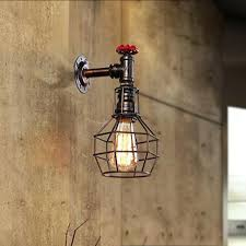 industrial pipe lighting. Pipe Light Fixture Loft Style Iron Cage Water Lamp Wall Sconce Industrial Vintage Lighting X