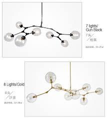 modern chandelier light glass island lighting led lighting gold or black painting for living bed room