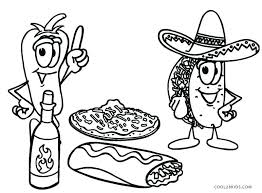 Unhealthy Food Coloring Pages At Getdrawingscom Free For Personal