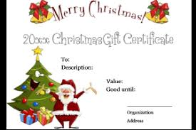 Christmas Certificates Barca Fontanacountryinn Com