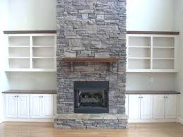gas fireplace stone gas fireplace rock placement