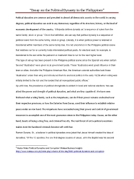 essay on political dynasties in the essay on political dynasties in the democracy