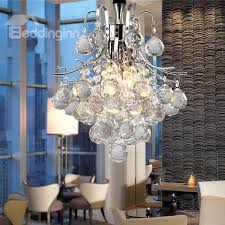 gorgeous chrome finish crystal chandelier ceiling light