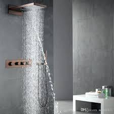 bronze shower faucet set oil rubbed bronze bathroom shower faucet set rain kit drain assembly oil