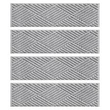 aqua shield medium gray 8 5 in x 30 in diamonds stair tread cover