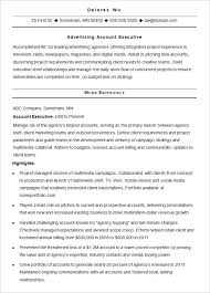 Sample Resume Advertising Account Executive Experienced