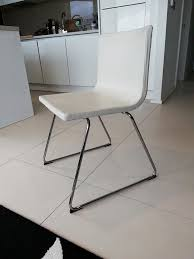 ikea bernhard chair chrome plated kimstad white dining room chairs x 2