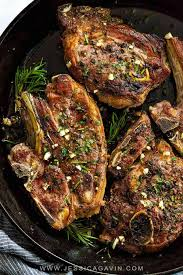 Lamb Chops With Garlic Herbs Jessica Gavin