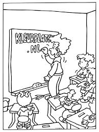 Kleurplaat Lerares In De Klas Kleurplatennl