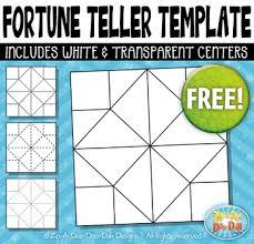 Free Fortune Teller / Cootie Catcher Template Set {Zip-A-Dee-Doo-Dah ...
