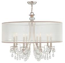 kitchen elegant drum chandelier with crystals 13 stunning for of stunning drum chandelier with crystals 10