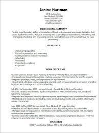 Secretary Resume Template Gorgeous Secretarial Resume Templates Free Guide Legal Secretary Resume