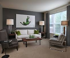 carpet for living room designs. example of a mid-sized trendy carpeted living room design in detroit with gray walls carpet for designs