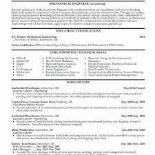 Entry Level Mechanical Engineering Resume Best Entry Level Mechanical Engineering Resume Impressive Sample