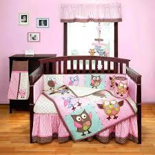 purple owl crib bedding bedding set for baby girl