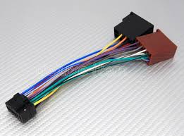 alpine car stereo radio pin iso wiring connector  16 pin iso harness adapter for newer alpine car stereo