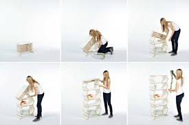 Fold Up Shelf Meike Hardes Stockwerk Shelf Pops Up From Flat To 6 Levels High