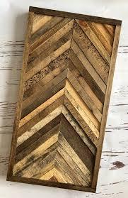 geometric chevron wood wall art decor