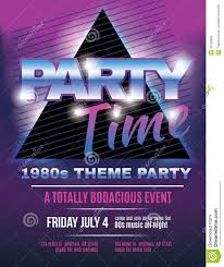 funky s theme party flyer template invitation stock vector funky 1980s theme party flyer template invitation