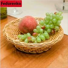 Decorative Fruit Trays Kitchen Organization bead dry fruit storage trays food fruit rattan 70