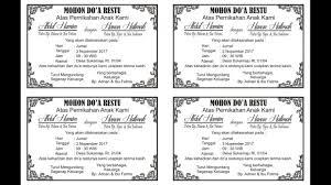 Klik di sini untuk download. 20 Contoh Ucapan Mohon Doa Restu Pernikahan Di Makanan