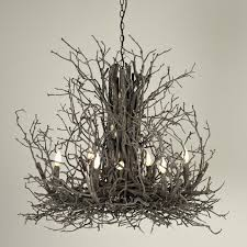 branch chandelier lighting. Naturally Superior Twig Chandelier - Large Natural_twig Branch Lighting L