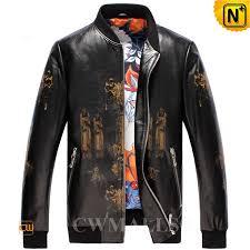 mens leather baseball jacket cw806059 cwmalls com