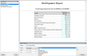Free Diet Software For Calorie Counting And Weight Loss Dietorganizer