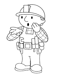 Bob The Builder Shocked Coloring Page