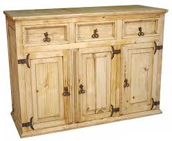 image rustic mexican furniture. Rustic Pine Buffet - 3 Door Drawer Image Mexican Furniture F