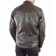 rsd walker leather jacket brown back