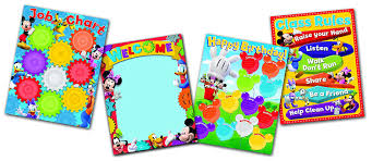 Mickey Mouse Job Chart Eureka Back To School Mickey Mouse Job Chart Mickey Mouse Decorations 0 1 X 18 X 28 4 Pc