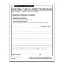 Employee Statement Form Harassment Incident Report Form