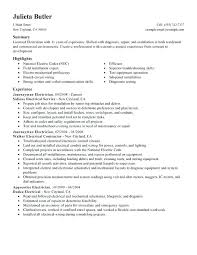 Electrician Apprentice Cover Letter No Experience Journeyman