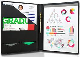STYLIO Padfolio/ Resume Portfolio Folder - Interview/ Legal Document  Organizer & Business Card Holder