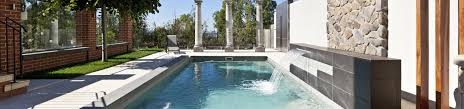 compass pools australia x trainer fibreglass pool with water feature