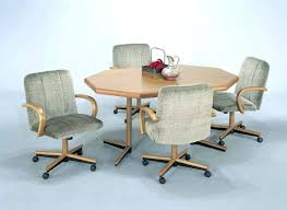 rolling dining chairs. Dining Sets With Casters Chairs Swivel Enter Home Caster Dinette Rolling O