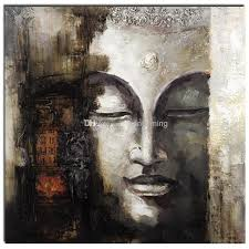 2018 whole 100 handmade buddha oil painting square religion decoration painting people art painting on canvas support dropp from
