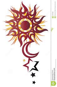 солнце луна звезды иллюстрация вектора иллюстрации насчитывающей