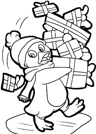 A Cartoon Drawing Of Cute Baby Penguin Coloring Page Kids Play