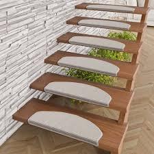 Stufenmatten, auch treppenschoner, treppenteppich oder treppenmatten genannt, haben nicht nur eine rutschhemmende wirkung auf ihrer treppe. Natur Sisal Stufenmatten Grau Halbrund In 2 Grossen