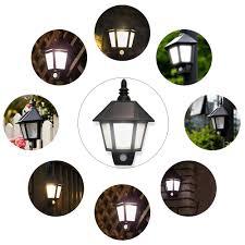 Donwei Outdoor Waterdichte Led Solar Lamp Wandlamp Bewegingssensor Nacht Auto Geenoff Zeshoekige Veranda Lichten Voor Tuin Balkon