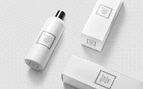 洗化用品场景包装样机及展示效果化妆品素材274 Vertical Bottle Mockup