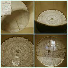 plexiglass doily drum shade so pretty diy ceiling mount light