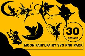 Moon Fairies Design Bundle Graphic By Cactustreedesigns Creative Fabrica