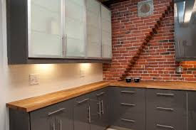 Brick Kitchen Kitchen Elegant Kitchen Decoration Ideas With Brick Kitchen Wall