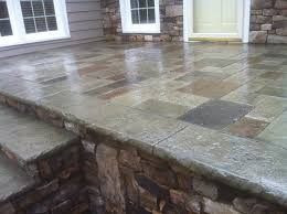 ashlar slate stamped concrete job by artisan concrete solutions monroe nc