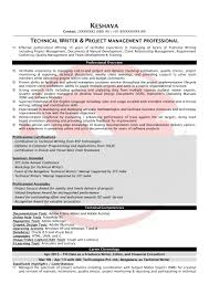 Technical Writer Sample Resumes Download Resume Format Templates